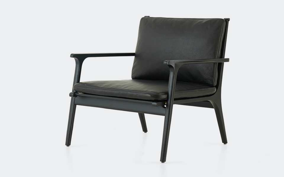 ren lounge chair large black