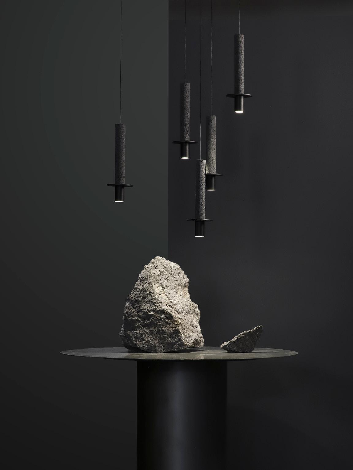 Meta David pompa, meta black composition volcanic rock