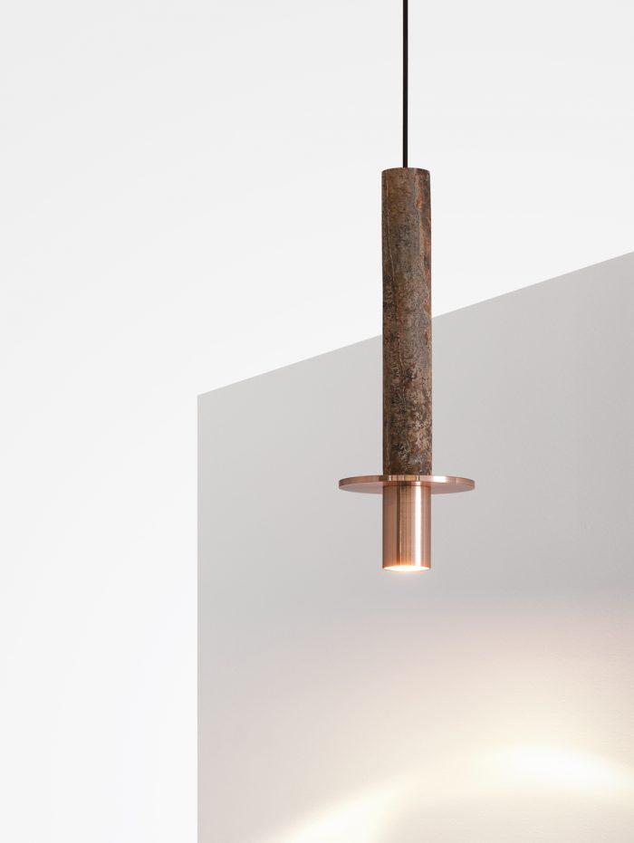 Meta David Pompa ochre travertin copper studio David Pompa